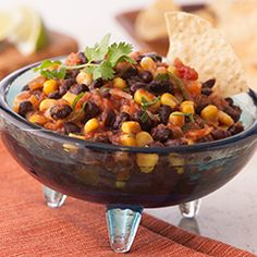Black Bean & Onion Salsa: Tex-Mex Tip… Try with your favorite grilled meats for a sensational snack or meal. #blackbean #salsa #recipe