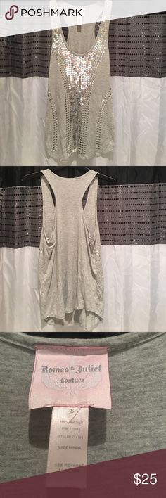 🌸🌸Romeo and Juliet Couture Sequins Top🌸🌸 🌸🌸Romeo and Juliet Couture Sequins Top🌸🌸 Very beautiful top... size small!⭐️⭐️⭐️⭐️⭐️ Romeo & Juliet Couture Tops Tank Tops