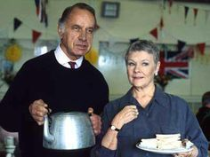 Lionel & Jean at church hall. Love PBS and the British comedies. As Time Goes By. Judi Dench is always great in anything! One of my favorite episode's Bbc Tv Shows, Comedy Tv Shows, British Comedy, British Actors, Judi Dench, Cute Couples, Movie Tv, Tv Series, Pinterest Board