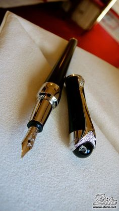 The Montblanc pen that was gifted to Dita by the head of Montblanc.