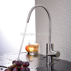 water filter faucet stainless steel. Best Modern Brushed Nickel Single Handle Kitchen Sink Dispenser Drinking Water  Filter Faucet Stainless Steel Filtration HPB Brass Lead free Cold