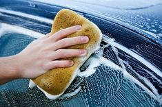 Washing the car in direct sunlight can have a harmful effect on the paint. Each droplet of water will act like a magnifying glass.