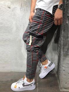 Jogger Pants Style, Sport Pants, Jogger Sweatpants, Plaid Fashion, Fashion Pants, Men's Fashion, Street Fashion, Latest Fashion, Fashion Design