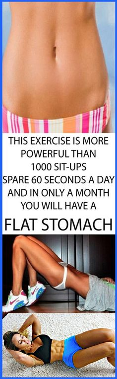 Exercise More Powerful Than 1000 Sit-Ups: Spend 60 Seconds Everyday Day And in Only 1 Month You Will Have a Flat Stomach #exercise #fitness #workout #homeremedies