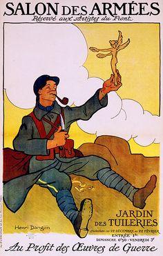 French war art poster by Henri Dangon, 1916