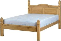 """Thinking about buying Corona 4'6"""" Bed L.... It's on #sale here http://discountsland.co.uk/products/corona-46-bed-low-foot-end-in-distressed-waxed-pine?utm_campaign=social_autopilot&utm_source=pin&utm_medium=pin #furniturediscount #furniture"""
