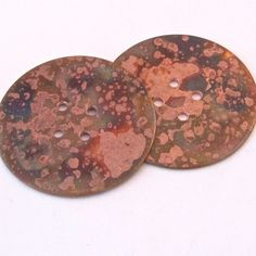 """Copper Buttons - 1 1/2"""" $5.00"""