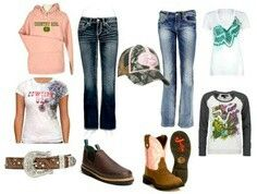 Country girl <3... Love except for the brown shoes, they should be boots instead