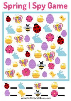 Easter I SPY Printable | Easter, Easter party, Easter games