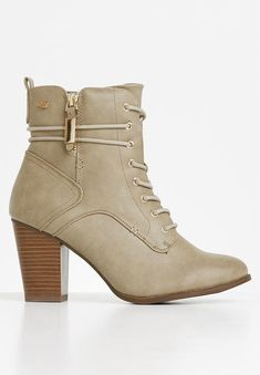 Ahlam 2 boot - nude Miss Black Boots | Superbalist.com Leather Ankle Boots, Black Boots, Block Heels, Two By Two, Footwear, Booty, Zip, How To Wear, Nude