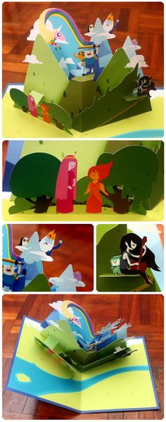 A fewshots to show the card up close. You can see Marceline looks particularly blurry and Finn appears to have bloody gums - don't worry, they're just teeth with the red from the mouth having...