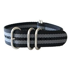 """21mm 5 Ring 12""""(300mm) Military Army Diver Nylon Watch Strap Band #Black/Gray - Stainless yeppoonus http://www.amazon.com/dp/B00SB0664K/ref=cm_sw_r_pi_dp_8j0Yub12FANK2"""
