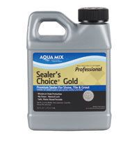 Food-grade seal for concrete countertops: Aqua Mix, Sealer's Choice Gold - Non-Toxic, Long-Lasting, Penetrating Sealer for Stone, Tile and Grout - Green Building Supply Grout Sealer, Tile Grout, Concrete Sealer, Concrete Countertops, Cement Pavers, Stone Tiles, Travertine, Green Building, Cleaning Solutions