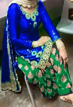 Cotton Machine Work Blue Semi Stitched Patiala Suit - 3008A at Rs 1350