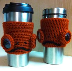 It's A Frap!! The Admiral Ackbar Crocheted Drink Sleeve