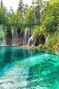 Beautiful waterfall in deep forest – Croatia #Waterfalls