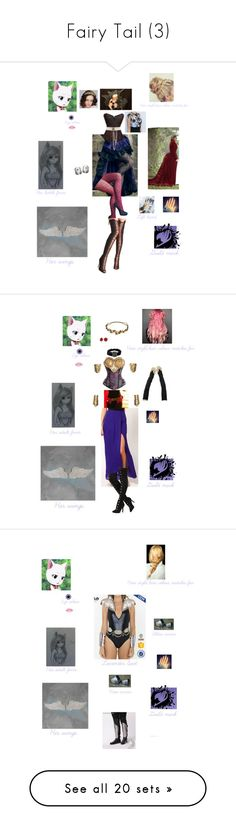"""Fairy Tail (3)"" by fangirl-of-seto-kaiba on Polyvore featuring Alexander McQueen, Lord & Taylor, WithChic, Gola, SIWA, WALL, Designers Guild, Kate Spade, Bling Jewelry and Jennifer Behr"