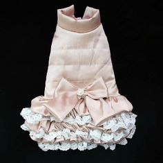 Custom Size Pink Lace Cotton-padded Jacket Pet por Anothersummer