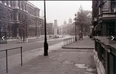 Whitehall, London, June 1962, 6:15 in the morning
