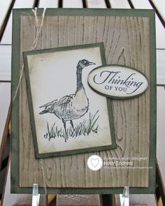 Dynamic Duos / Wetlands / Stampin' Up! / Hollybeary Creations / Masculine Card / Hand Stamped.