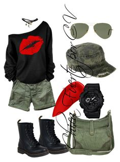 """""""adoro ese buzo"""" by crisvalx-cv on Polyvore featuring moda, Lipstick Queen, Current/Elliott, Dr. Martens, G-Shock, Frye, Ray-Ban y Wet Seal"""