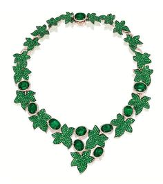 Emerald and diamond 'Ivy' necklace, Michele della Valle - Sotheby's