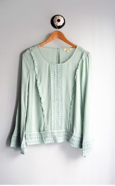 Mint Boho Blouse