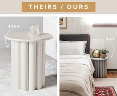 Copycat Ribbed Side Table Tutorial | Hunker Felt Tip Markers, Sides For Ribs, Pvc Pipe, Copycat, Wall Colors, Diy Furniture, Lounge, Design Inspiration, Contemporary