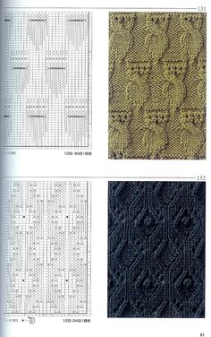 Tricot points - gorgeous cable and lace patterns to incorporate into any project Knitting Stiches, Cable Knitting, Knitting Charts, Knitting Needles, Crochet Stitches, Knitting Patterns, Crochet Patterns, Beginner Knitting, Lace Patterns