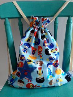 Kids Personalised Drawstring Kit Bag by bagsbuntingbitsnbobs