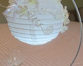 """Items similar to Paper lanterns decorated with silk flowers, lots of """"sparkle"""" and glow with LED lights! on Etsy Ideas Para Organizar, Luz Led, Paper Lanterns, Silk Flowers, Dyi, Table Settings, Glow, Sparkle, Lights"""