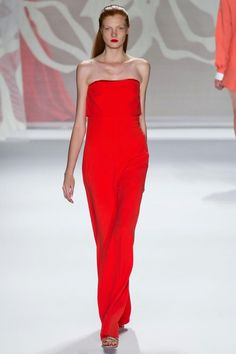 Monique Lhuillier- on a redhead! Does this mean I can wear THIS COLOR?