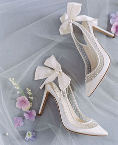 Adelaide by Joy Proctor for Bella Belle 'Enchanted' bridal collection. Designer Wedding Shoes, Wedding Shoes Bride, Wedding Shoes Heels, Bride Shoes, Disney Wedding Shoes, Wedding Ceremony, Fancy Shoes, New Shoes, Bridal Heels