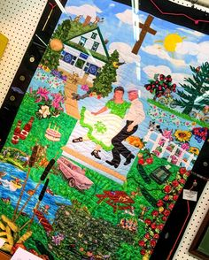 More then a quilt but a message to Aliens describing a facet of the #midwest Also plain flat out magical realism! #minnesota #minnesotastatefair #quilt #crafts