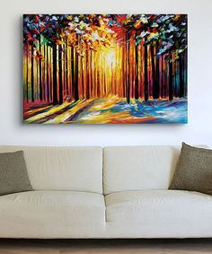 Loving this Leonid Afremov Sun Of January Gallery-Wrapped Canvas on #zulily! #zulilyfinds