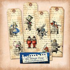Alice in Wonderland Bookmark No 1Alice by aftermidnightdesign