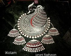 Ideas Embroidery Designs Simple Templates For 2020 Rangoli Side Designs, Rangoli Designs Peacock, Simple Rangoli Border Designs, Rangoli Simple, Rangoli Designs Latest, Free Hand Rangoli Design, Small Rangoli Design, Rangoli Patterns, Colorful Rangoli Designs