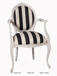 Judith Chair - Black Magnolia French Furniture