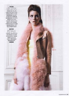 MADAME FIGARO France - March 2014 // FLAC Cropped moto jacket // SHOP NOW --> http://fr.maje.com/fr/printemps-ete/manteaux-blousons/flac/E14FLAC.html?dwvar_E14FLAC_color=0183#q=FLAC&start=1