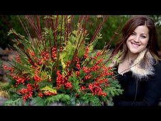 Creating a Beautiful Christmas Urn - YouTube