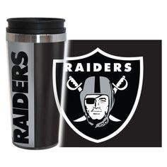 Oakland Raiders Travel Mug - 14 oz Full Wrap - Hype Style