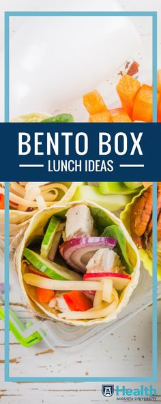 If you're finding it difficult to pack something new each day, dietitian Nicole Moore suggests using a bento-style lunch box. These boxes have containers that help you correctly portion food and assemble a meal that is not only more nutritionally balanced, but also more fun to eat.
