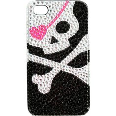 Heart Skull iPhone Case ($9.50) ❤ liked on Polyvore