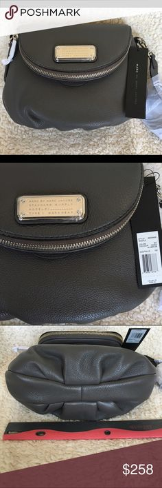 NWT: Marc by Marc Jacobs Classic Q Natasha Mini NWT: Marc by Marc Jacobs Classic Q Natasha Mini in the color faded aluminum (dark gray), silver hardware, and black interior. There is an adjustable crossbody strap and dustbag. Authentic. Marc by Marc Jacobs Bags Crossbody Bags
