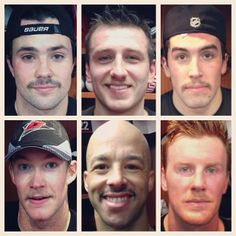 We got some #Movember updates from #Canes players after today's practice. Whose mustache is looking the best? Donate to your favorite at CarolinaHurricanes.com/Movember