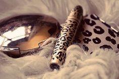 leopard print makeup <3