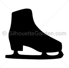 Ice skate silhouette clip art. Download free versions of the image in EPS, JPG, PDF, PNG, and SVG formats at http://silhouettegarden.com/download/ice-skate-silhouette/