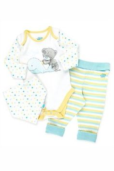 3 Piece Pure Cotton Tiny Tatty Teddy Outfit