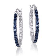 Blue diamond hoops  Overstock.com Mobile