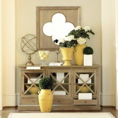 Beautiful entry way table and accessories